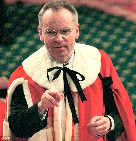 Lord jeffrey archer gives the finger