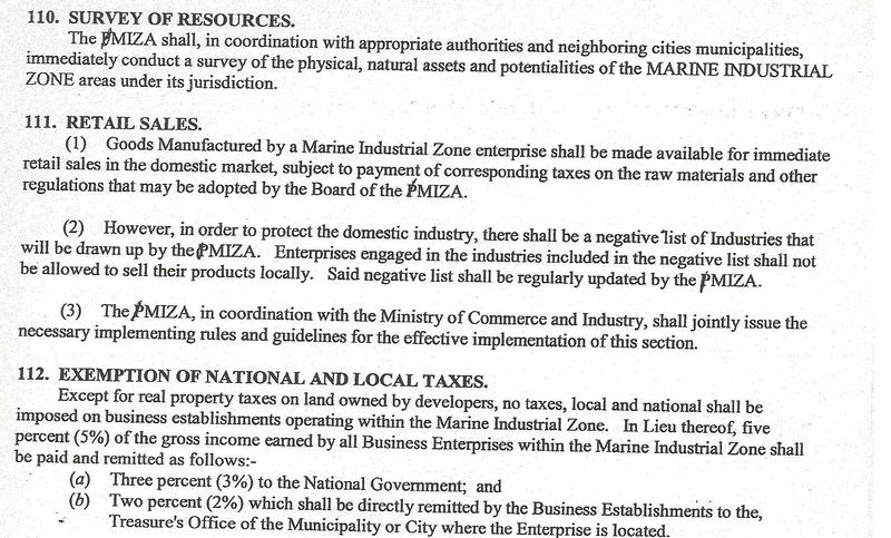 Excerpt PMIZ bill second half 010
