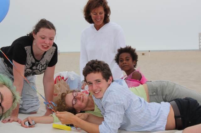 Zach and nancy on beach