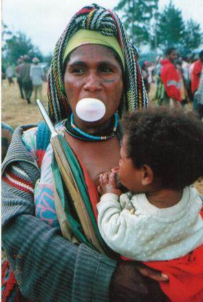 Tari woman breastfeeds