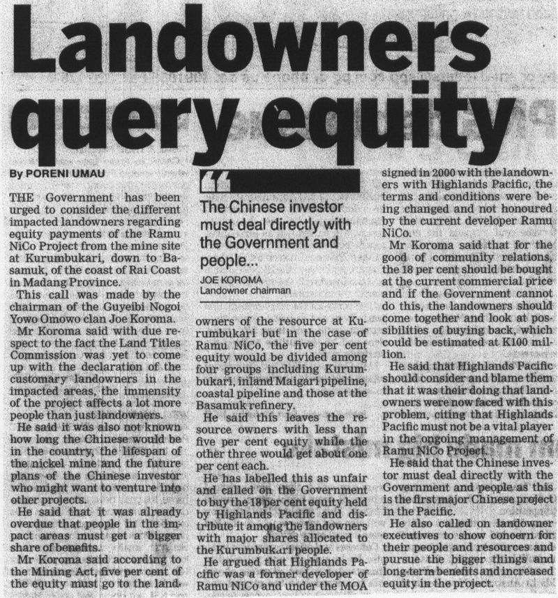 Landowners-query-equity